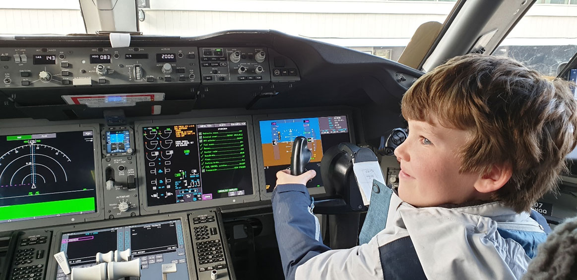 Fortunately, Jack was on hand to help the Air Canada pilots fly big jet across the Pacific.